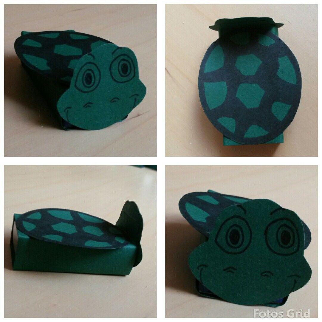 Schildkröte basteln aus Smartieschachtel | Schildkröte ...