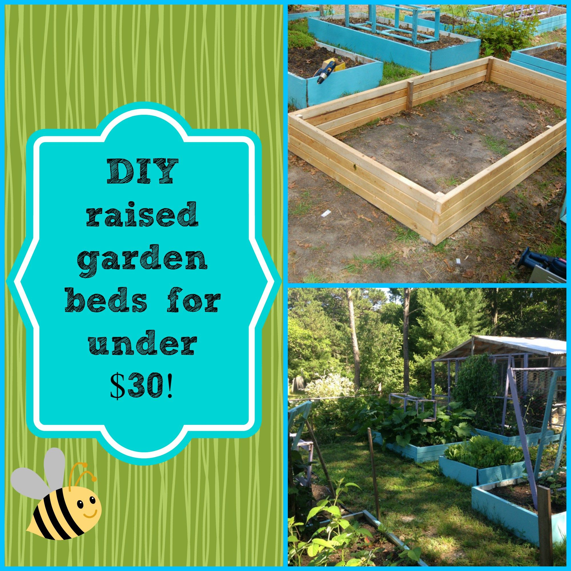 DIY Super Easy Raised Garden Bed For Under $30