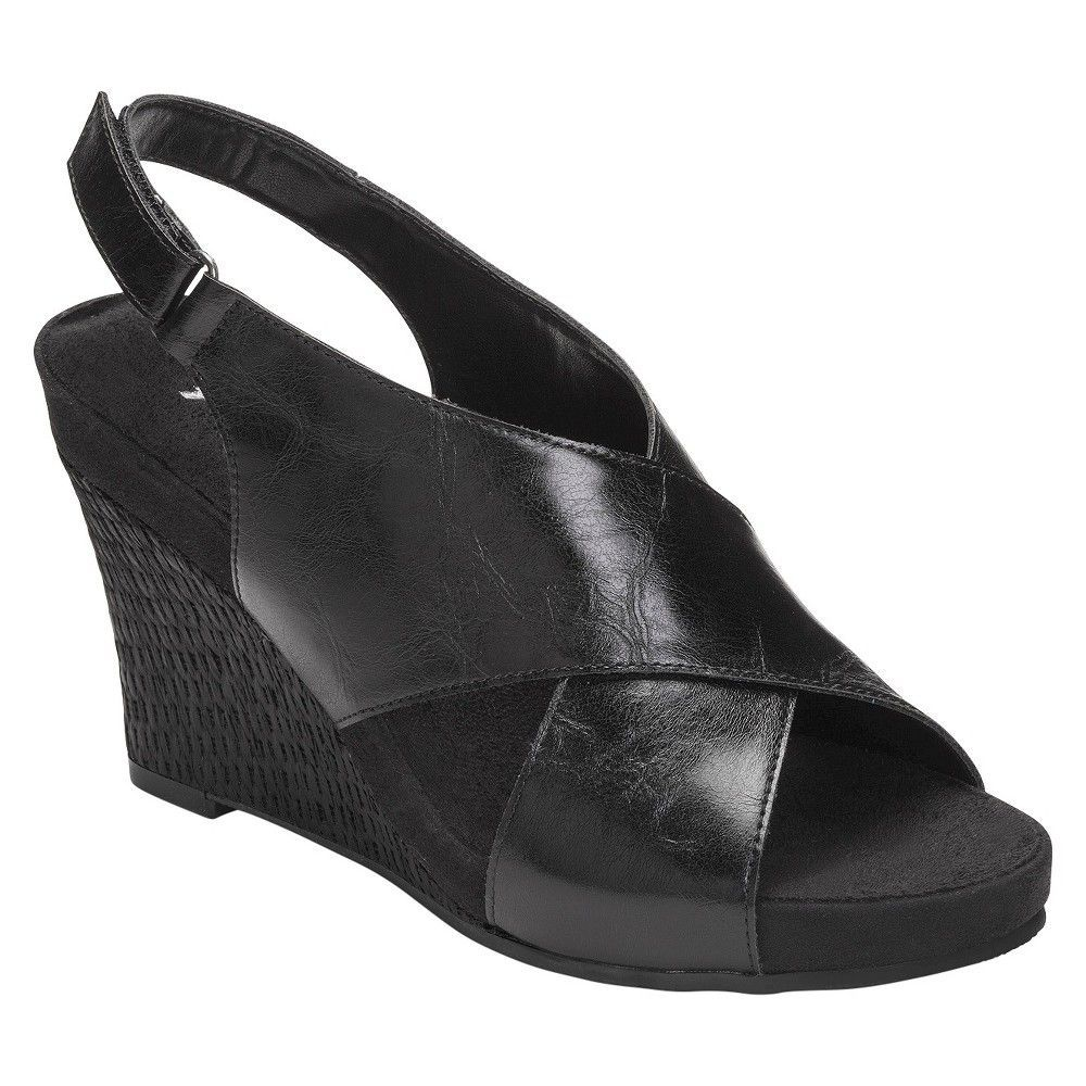 Womens Sandals Aerosoles Cherry Plush Black