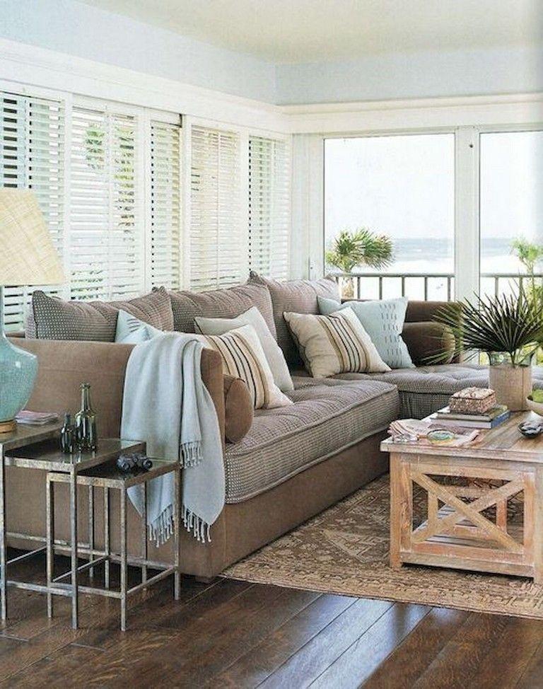 95 Good And Eye Catching Coastal Living Room Decor Ideas Beige Living Rooms Coastal Decorating Living Room Coastal Living Rooms Style living room decorating ideas
