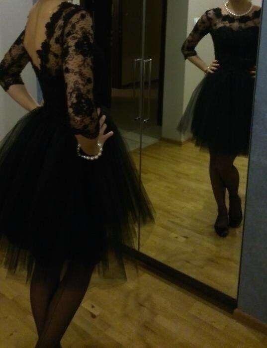 c894a79f1a Czarna sukienka tiul