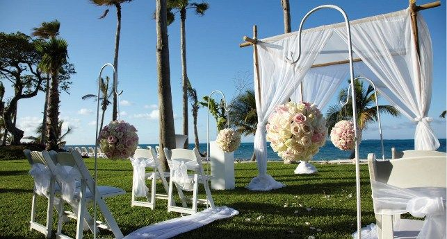 Wedding Decoration For Ceremony With Ocean View As The Background At Riu Palace Peninsula Cancun