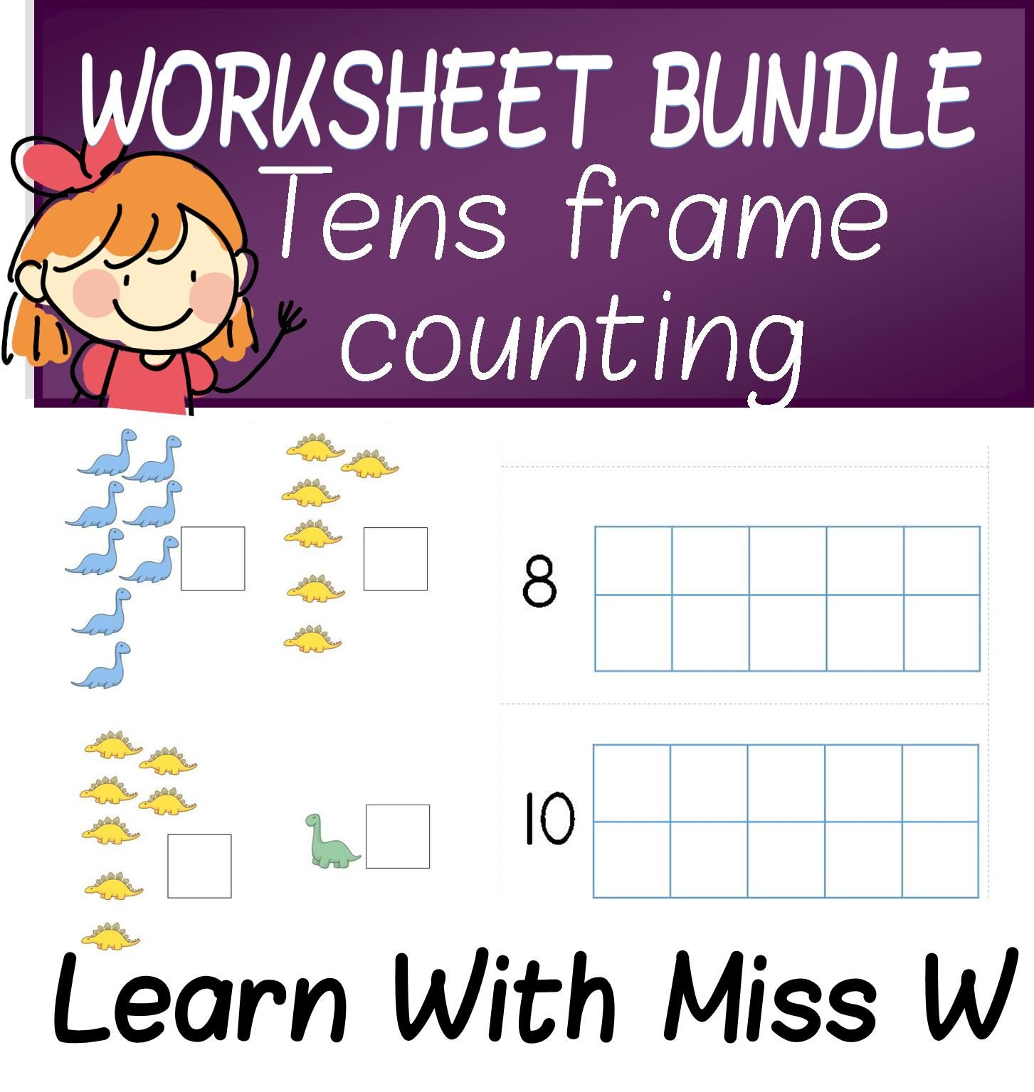 Worksheets Ten Frame Worksheet tens frame worksheet bundle count to 10 or 20 school daze have fun with this 16 page of counting worksheets practise 1 correspondence these sheets