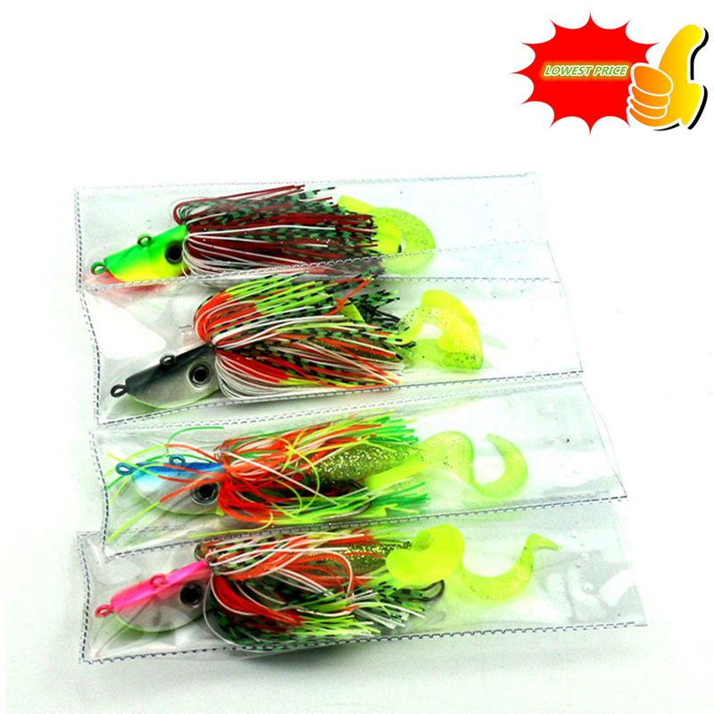 1PC 60G Octopus Squid jig spinnerbait pike lead head Buzzbait Fishing lures pike peche fishing baits pesca fishing tackles