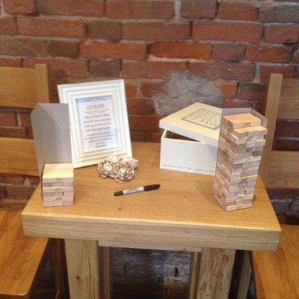 Cute Wedding Guest Book Ideas: Unique Wedding Guestbook Idea! Have Everyone Sign A Wooden
