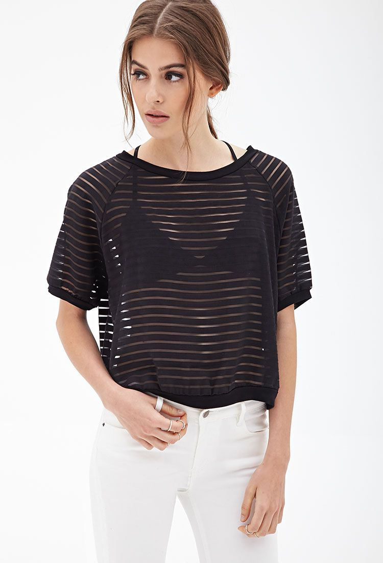 Boxy Shadow Striped Top #SummerForever i would sooo wear this.