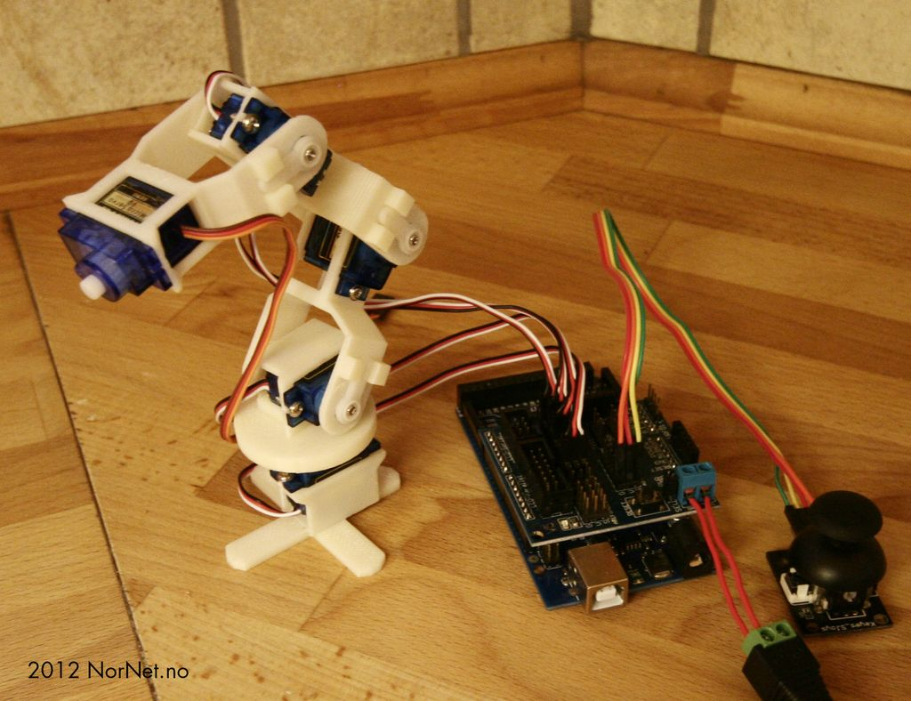 Micro Robot arm (9g Micro Servo) see video by bentommye.