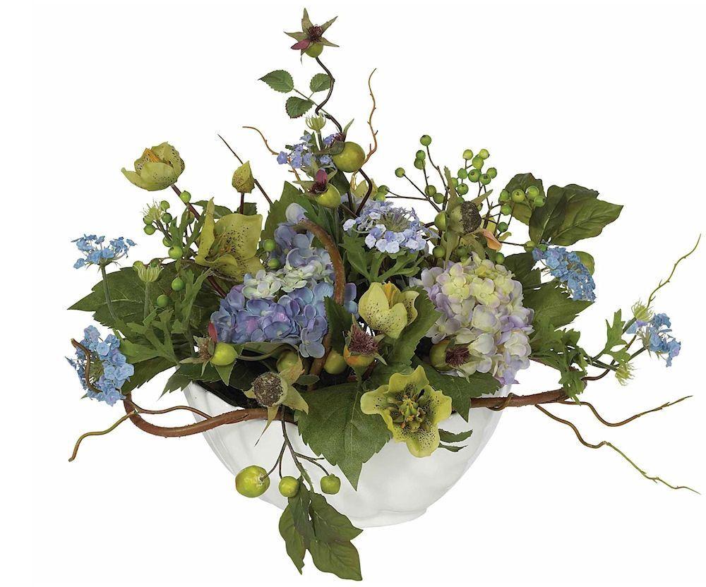 Hydrangea silk flower arrangement with ceramic bowl 14 inches hydrangea silk flower arrangement with ceramic bowl 14 inches mightylinksfo Gallery
