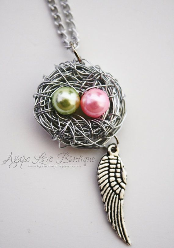 Another Birds Nest Necklace, a perfect gift for any Mother!