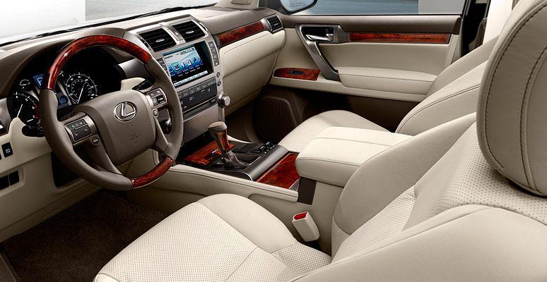 Gx Shown In Ecru Leather Trim With Auburn Bubinga Wood Accent And Available Navigation System Lexus Gx Lexus Gx 460 Lexus Interior