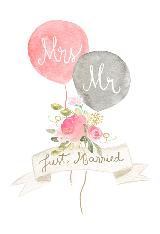 Newlywed Balloons Free Wedding Congratulations Card Greetings Island Wedding Card Diy Wedding Congratulations Card Wedding Cards Handmade