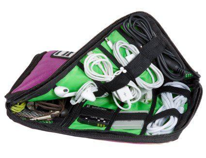 ECOSUSI Pochette Rangement Organisateur de Câbles Électronique Accessoires Sac de Voyage (Violet): Amazon.fr: Bagages