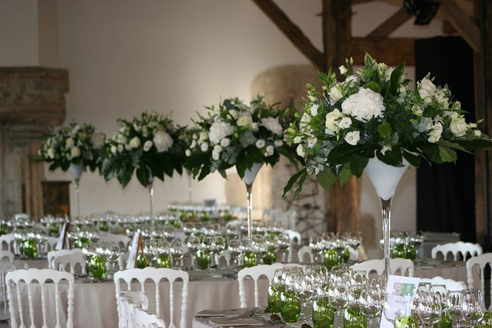 Centre de table coupe martini fleurs mariage bordeaux - Pinterest centre de table ...
