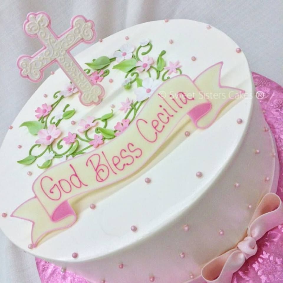 Welcoming A New Baby Girl Into The Catholic Church With This Cake