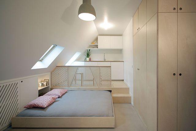 Studio Paris 9  aménagement d\u0027un 15 m2 Offrir, Lits et Nuit