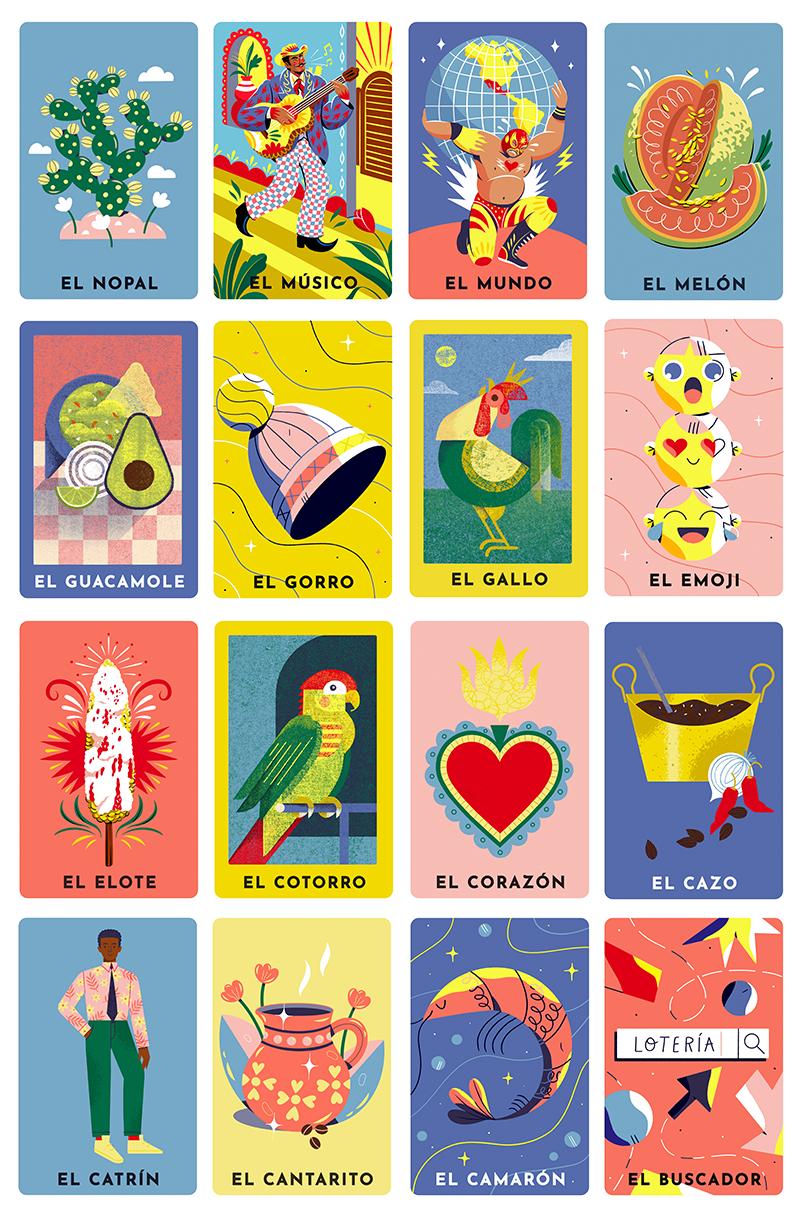 Celebração da Lotería Loteria cards, Graphic design
