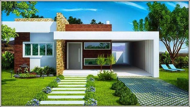 Casa de campo modernas de 1 solo piso buscar con google for Fachadas de casas de un solo piso