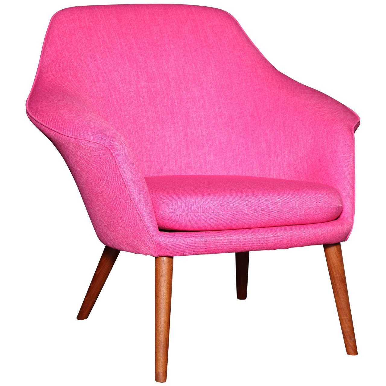 pink shell or womb chair by hans olsen | antiques, shells and