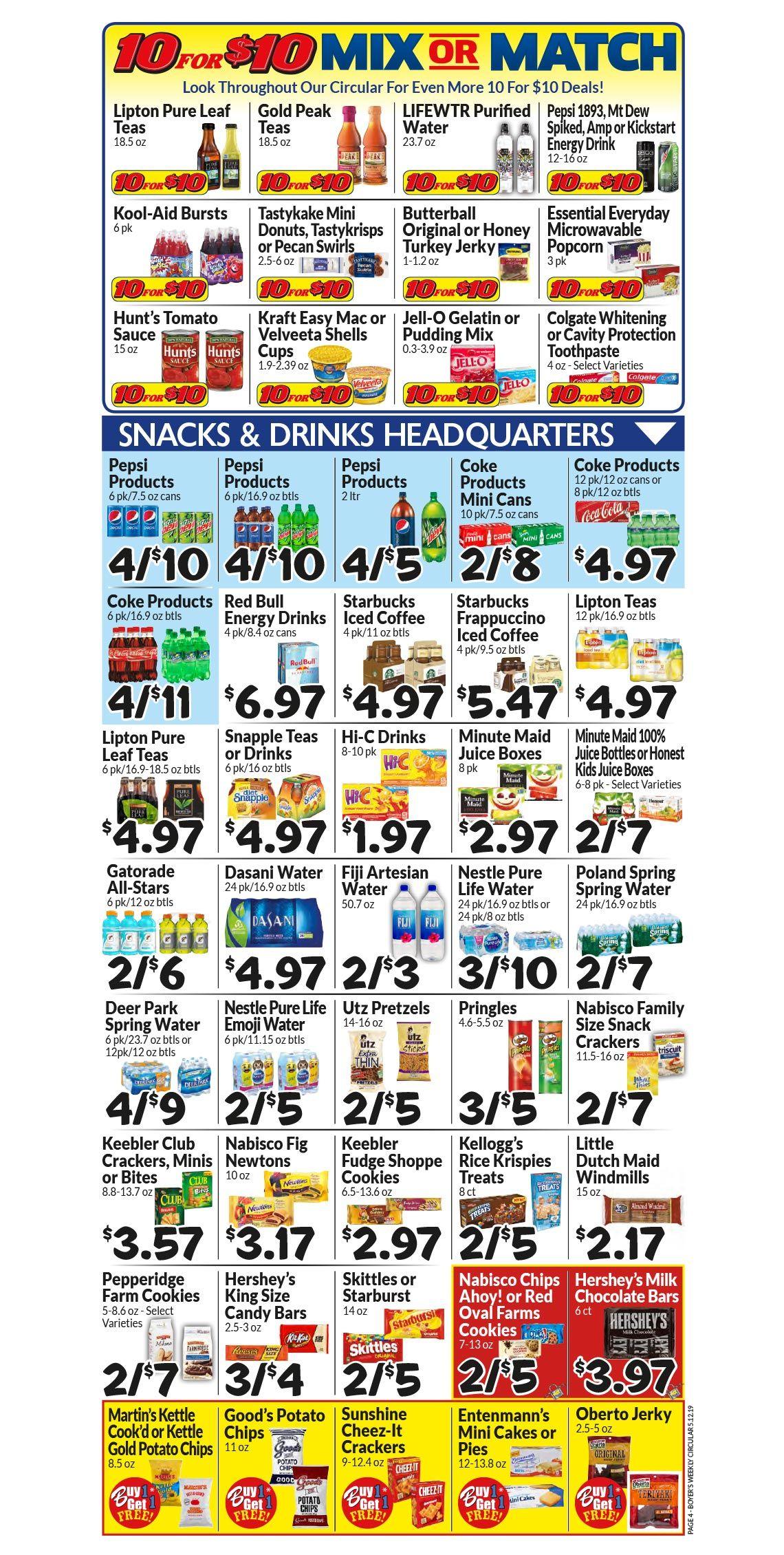 Weekly Ad Boyer's Food Markets Drinking kool aid, Farm