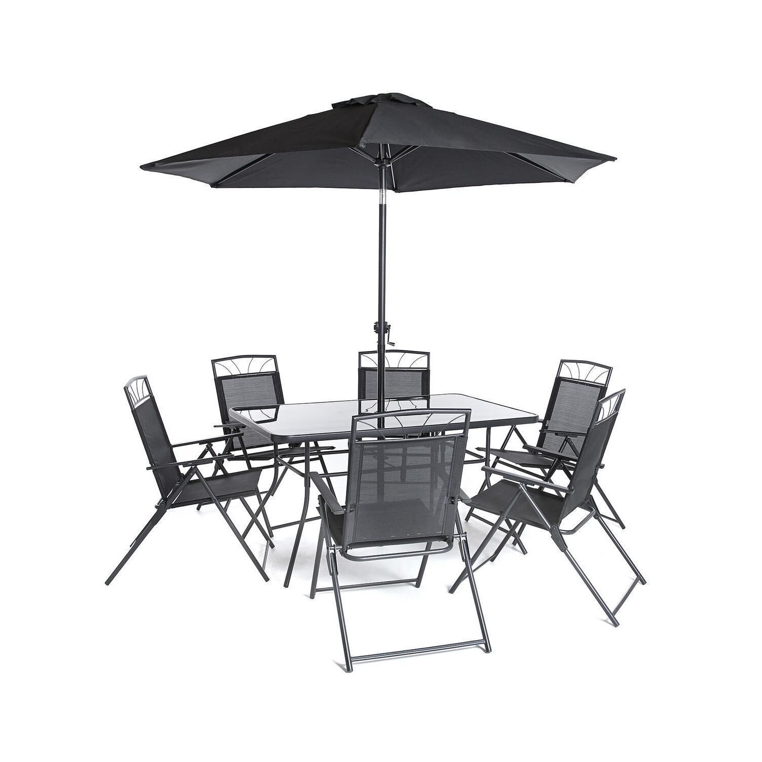 Piece memphis steel dining collection black black size piece