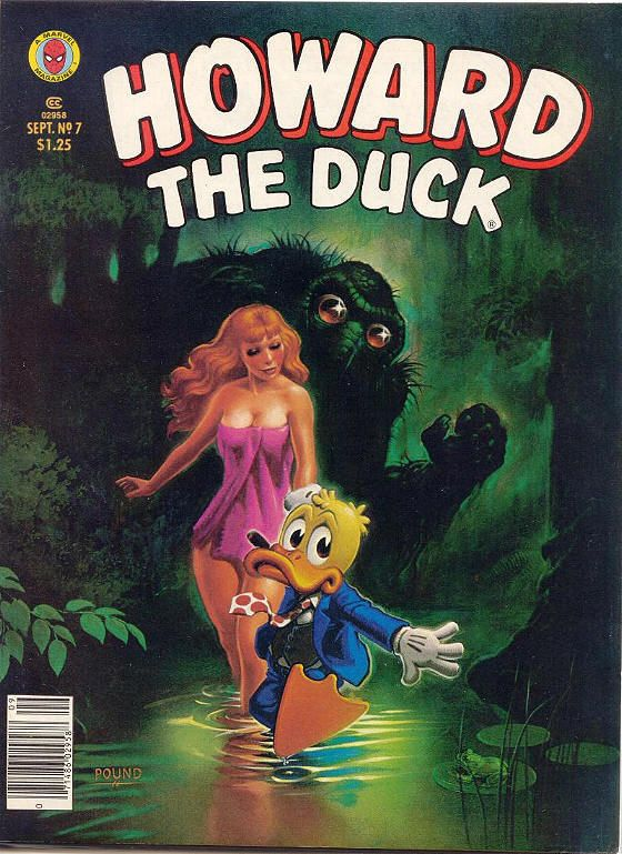 COMIC howard the duck magazine 7 #comic #cover #art