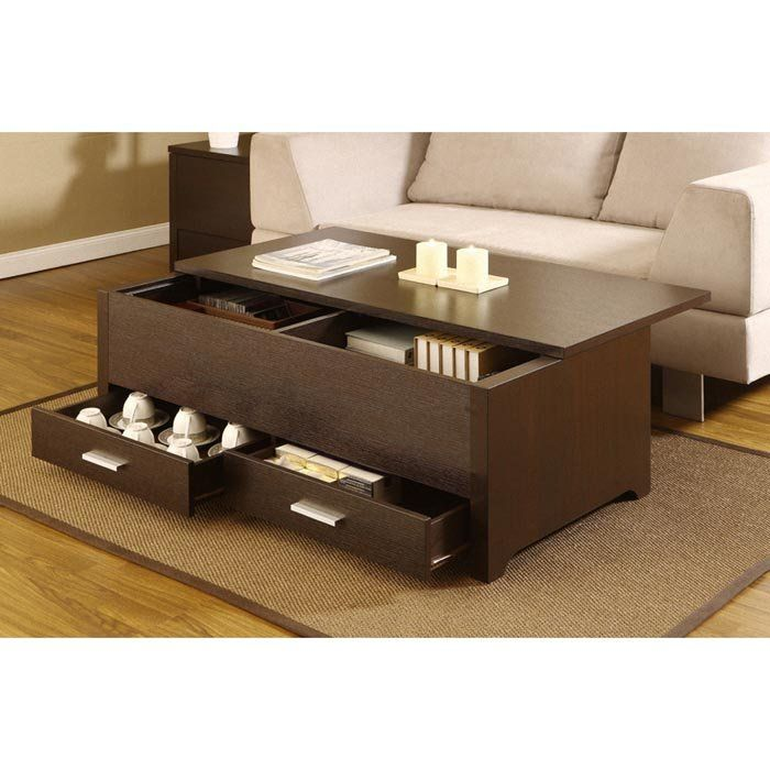 Living Room Tables With Storage - 3d House Drawing •