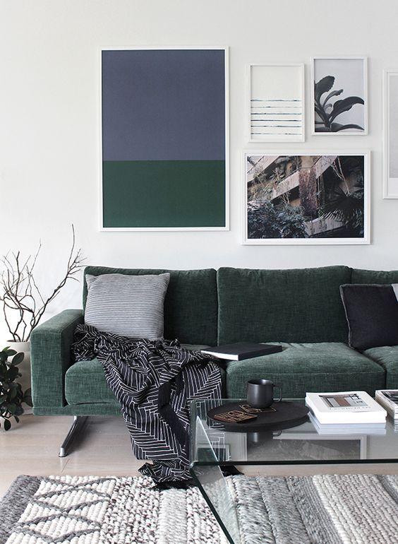 Fancy Green Velvet Green Sofa Living Room Inspiration Home