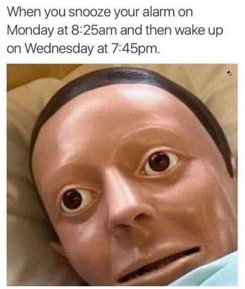 When You Oversleep  http://funphotololz.com/funny/when-you-oversleep/