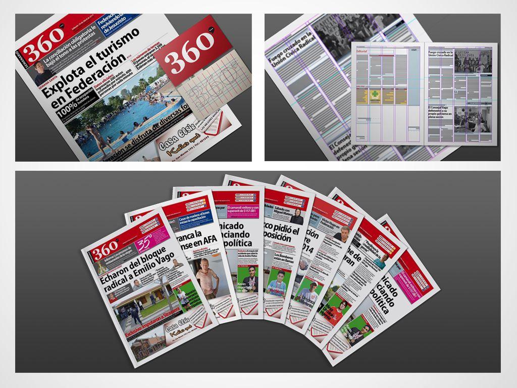 Diseño y Maquetación de Semanario 360 para ARMEGEDON Producciones ...