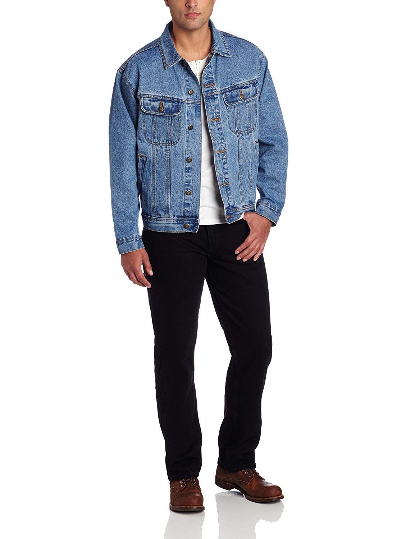 Wrangler Men S Big Tall Rugged Wear Unlined Denim Jacket Denim Jacket Men Vintage Denim Jacket Blue Denim Jacket [ 1500 x 1154 Pixel ]