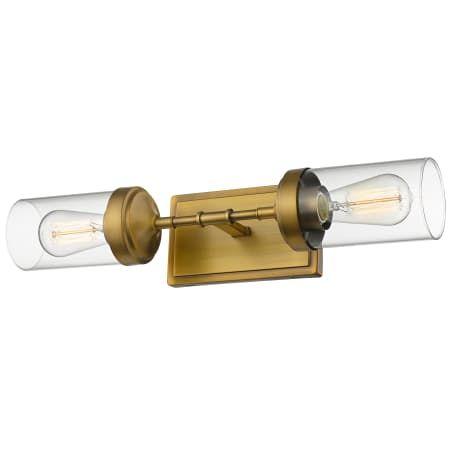 Photo of Z-Lite 617-2S-FB Foundry Brass Calliope 21″ Wide 2 Light Bathroom Vanity Light – LightingDirect.com