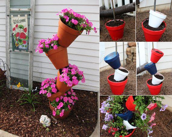 sommer bastelideen für garten mit blumentöpfe | land | pinterest, Garten und bauen