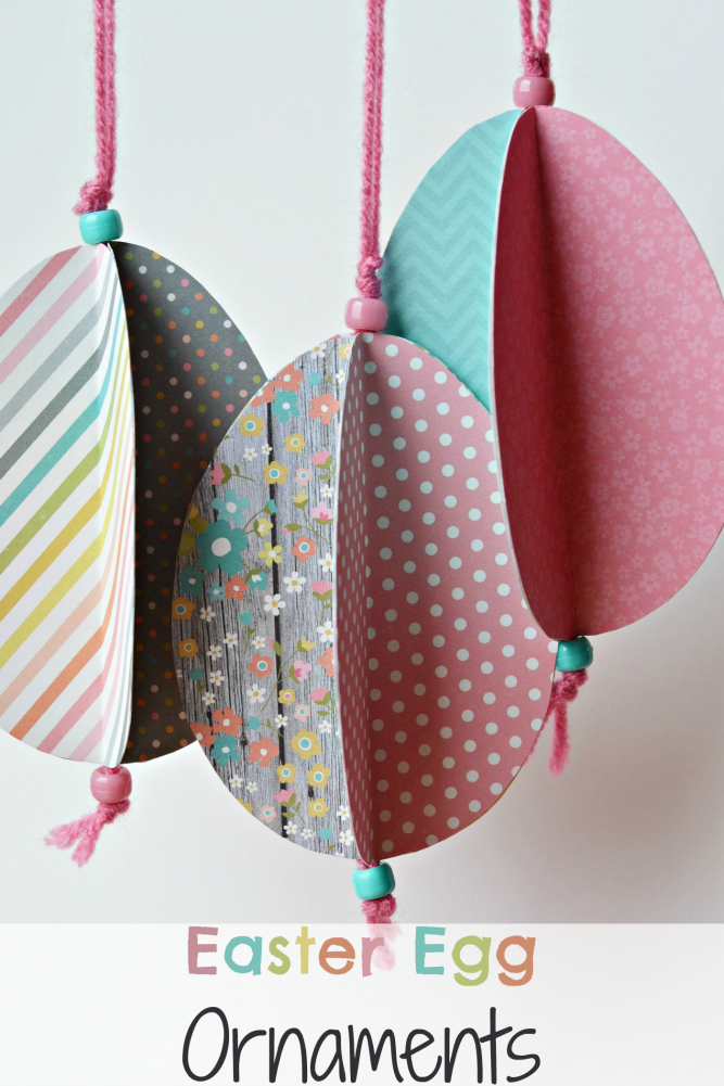 Easter Egg Ornament Craft - easy Easter papercraft for decoration