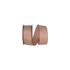Reliant Ribbon 93171W-985-40K Holiday Country Plaid Value Wired Edge Ribbon 2-1/2 Inch X 50 Yards Red/green Improvement Fans Lamps Crafts-Sewing