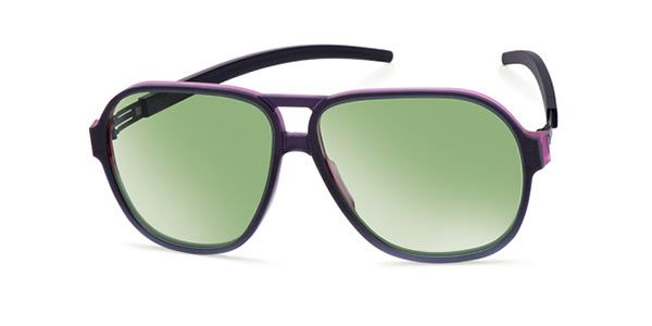 df246eaa37 Ic! Berlin A0631 Justin H. Charcoal-Pink-Rough - Bottle Green Mirror  Sunglasses
