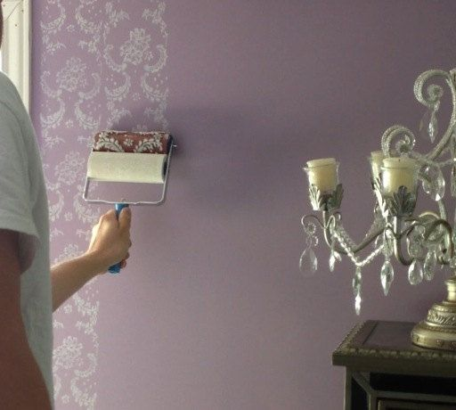 Patterned Paint Roller In Symphony Scrolls Design,by Not Wallpaper  Patterned Paint Rollers
