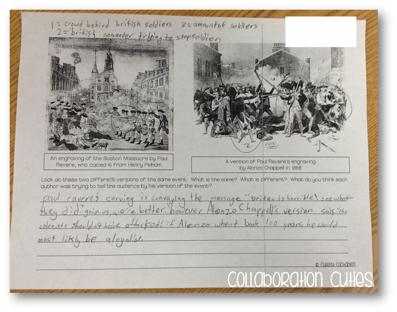 Point Of View With Primary Sources And American Revolution