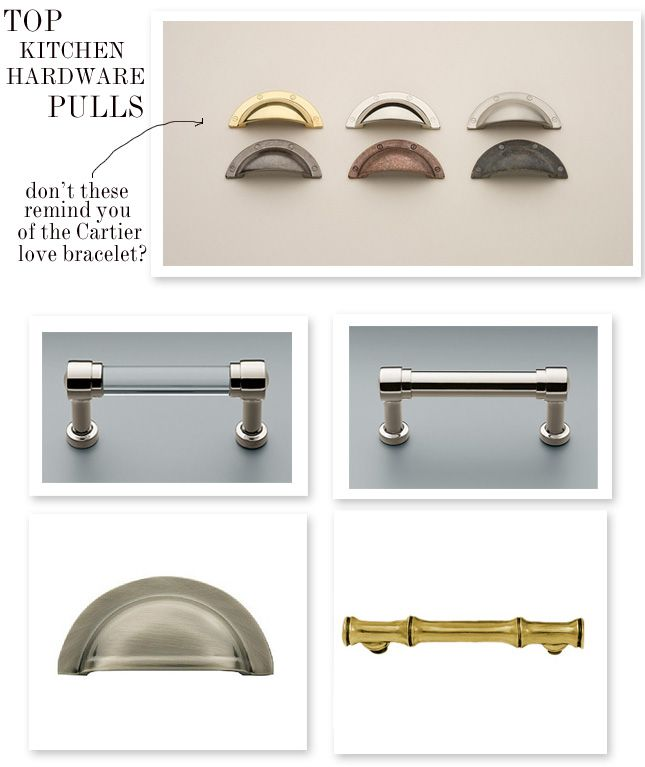 Restoration Hardware Kitchen Cabinets: Top: Omnia / Clockwise From Top Left: Restoration Hardware