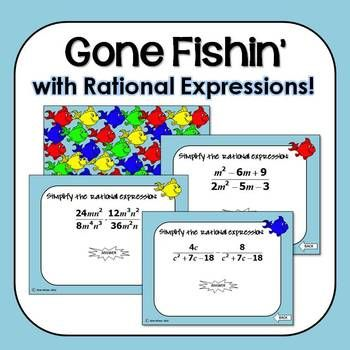 Operations With Rational Expressions Gone Fishin Game