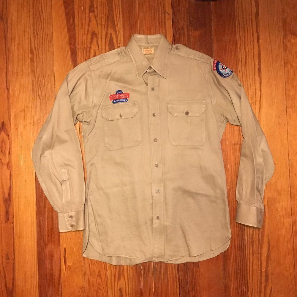 Vintage Korean War Era Oklahoma Civil Air Patrol CAP Shirt
