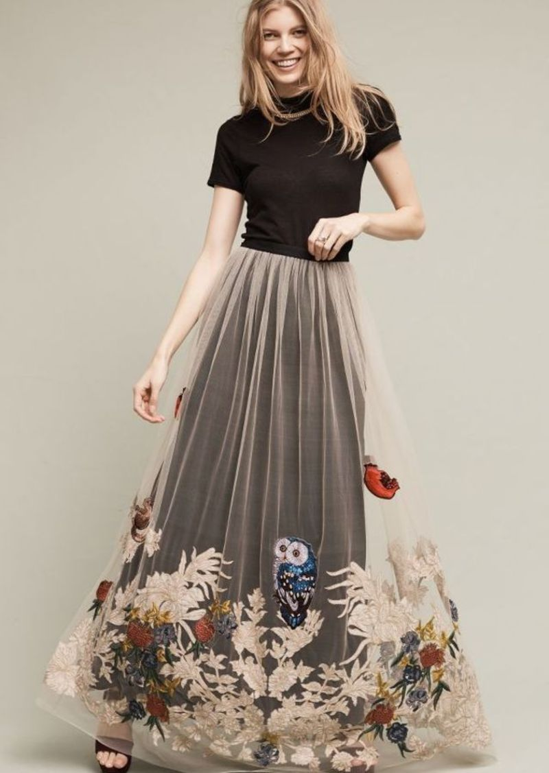 harmonious colors fashion styles new arrivals Anthropologie Hidden Forest Maxi Skirt | sewing in 2019 ...
