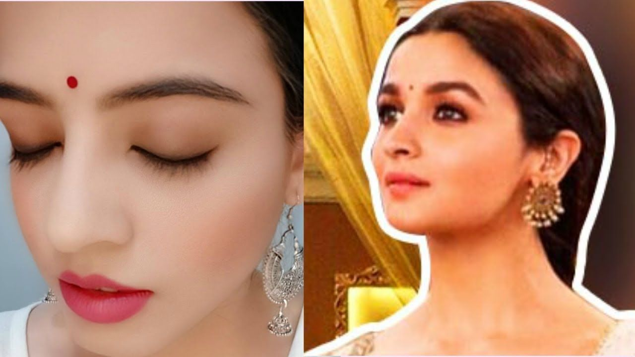 Alia Bhatt S Inspired Makeup From Ghar More Pardesiya Kalank Wedding Guest Makeup Wedding Makeup Tutorial Party Makeup Looks