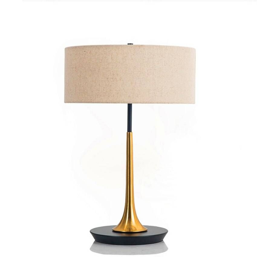 Vintage Art Table Light Bedroom Bedside Table Lamps Decor Romantic American Style Iron Living Room Study Cloth Desk Lamps Bedroom Bedside Table Lamp Decor Bedside Table Lamps