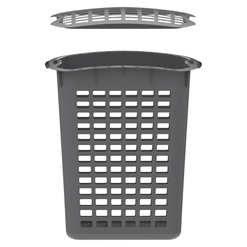 Homeleisure 90l Laundry Hamper With Lid Charcoal Laundry