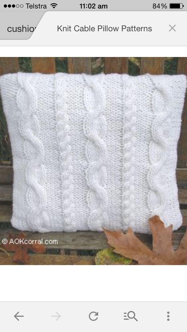 Cable cushions | Knitting | Pinterest
