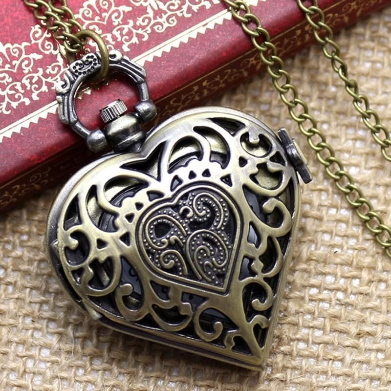Vintage Ornate Antique Silver Pendant Tattoo Charm Necklace Silver Heart