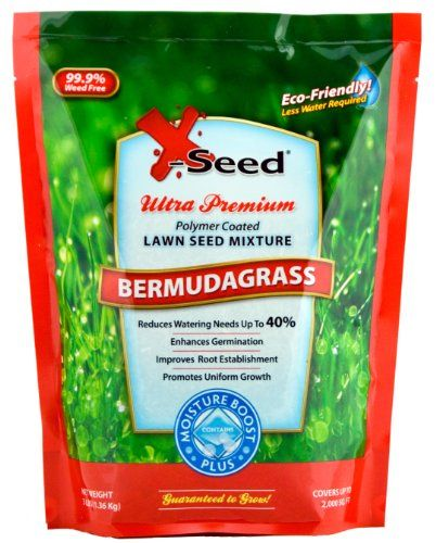 XSeed Moisture Boost Plus Bermuda Grass Lawn Seed, 3Pound is part of lawn Square Grass -