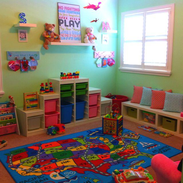 Twin Kids Room: Playroom, Kids Rugs, Home Decor