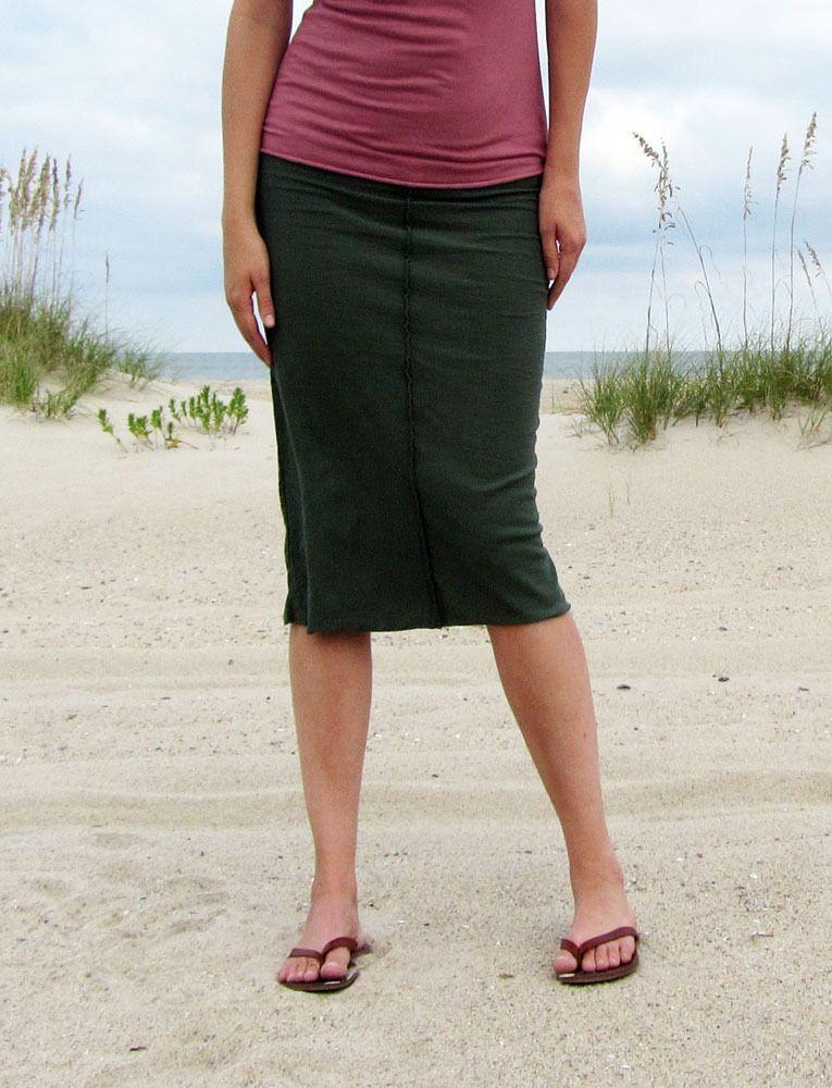Organic Clothing Below Knee Skirt