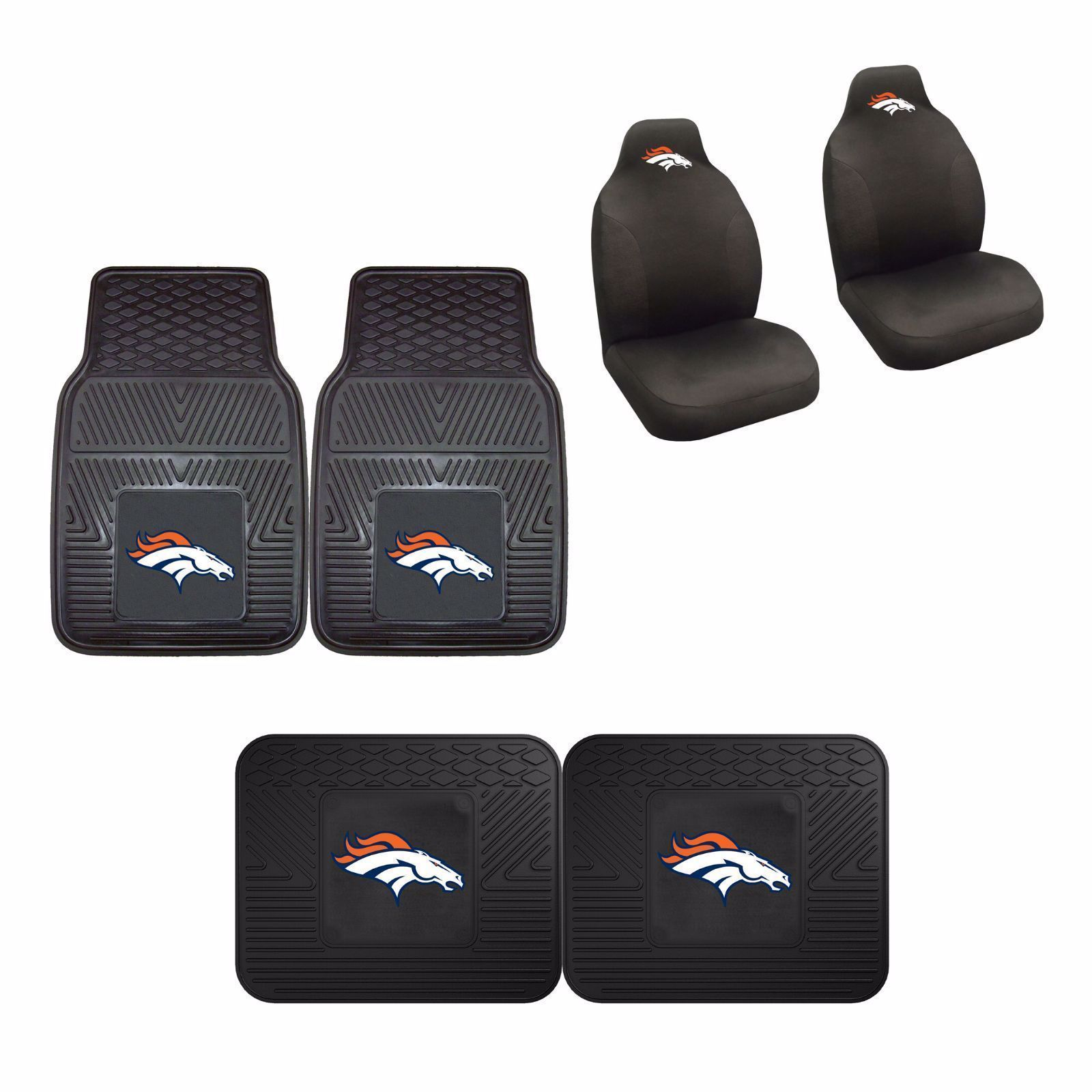Denver Broncos Car Accessories Car Mats Seat Covers In 2020 Bronco Car Car Accessories Seat Covers
